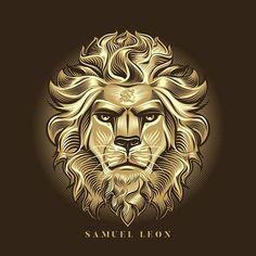 Lionhead 2 on Behance Lion Hd Wallpaper, Eagle Wallpaper, Lion Images, Lion Pictures, Lion Head Tattoos, Lion Tattoo, Lion King Art, Lion Art, Corona Logo
