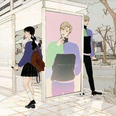 Aesthetic Drawing, Aesthetic Anime, Couple Illustration, Illustration Art, Tumblr Art, Cute Art Styles, Couple Cartoon, Anime Poses, Sketch Painting