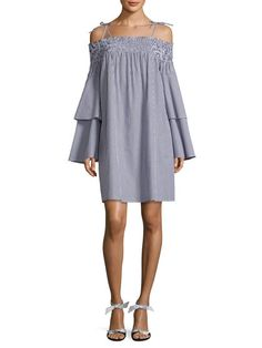 Cotton Smocked Shift Dress by 1st sight at Gilt