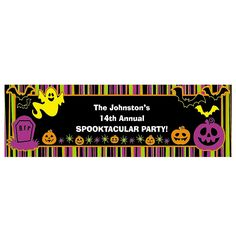 Personalized Iconic Halloween Banner - Small - OrientalTrading.com