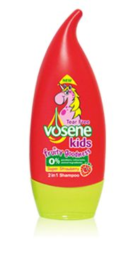 For shiny, soft and great smelling hair, try Vosene Kids Fruity Goodness Super Strawberry shampoo and conditioner!