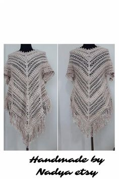 #bohocrochetpancho #sleevedponcho #wearableart #expresshipping #uniquegift