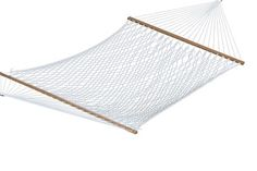 Home Accents Double Polyester Rope Hammock by Ashley HomeStore, Beige Rope Hammock, Hammock Stand, Hammocks, Double Hammock, Trampoline Parts, Trampoline Springs, Outdoor Rocking Chairs, Ashley Home, How To Make Rope