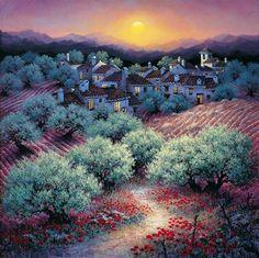 Amapolas y olivares by Luis Romero