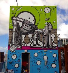 Street art by The London Police Amazing Street Art, Amazing Art, Graffiti Art, London Police, Urbane Kunst, Chalk Art, Land Art, Street Artists, Public Art