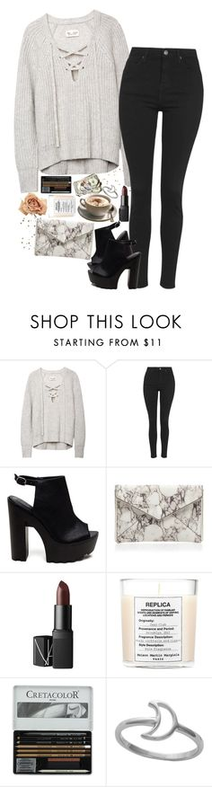 """""""Untitled #2442"""" by sisistyle ❤ liked on Polyvore featuring Topshop, Rebecca Minkoff, NARS Cosmetics and Maison Margiela"""