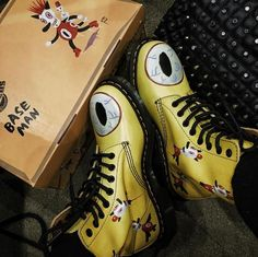The Dr. Martens x Gary Baseman Pascal boot, shared by bbinko