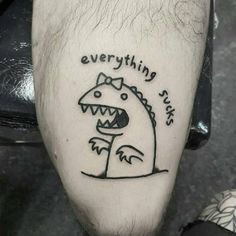 Repost from @mr_heggie -  I can't think of anything witty to write here - email art.heggie@gmail.com for all tattoo related info and shit - MRHEGGIE.COM - #mrheggie #onlyblackart #blackworkerssubmission #darkartists #btattooing #dinosaur #everythingsucks - MRHEGGIE.COM
