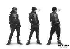 Beyond Two Souls Character Concept Art by Florent Auguy