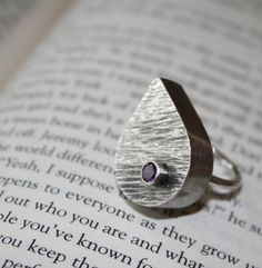 Amethyst hollow form ring by BeAdornedbyKim on Etsy, $74.00