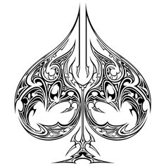 Ace of Spades Tattoo ace cards of cards Ace Of Spades Tattoo, Tattoo Drawings, Cool Drawings, Tribal Tattoos, Tatoos, Ace Card, Playing Cards Art, Zentangle, Queen Of Spades