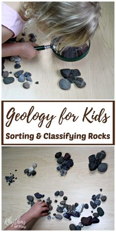 Sorting and classifying rocks is an easy STEM activity for kids. Learn about earth science with this simple geology lesson for kids. Science Sorting and Classifying Rocks: Geology for Kids Earth Science Projects, Earth Science Activities, Rock Science, Earth Science Lessons, Earth And Space Science, Kindergarten Science, Science Experiments Kids, Science For Kids, Stem Activities
