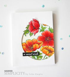 Poppy Gems: PB, colored pencil, one flower and leaf popped up, flower sketch,…