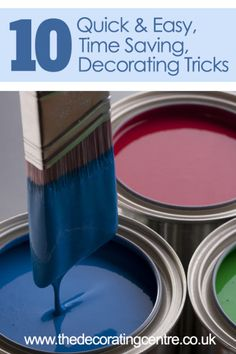 Save lots of time on your next decorating project with our 10 Quick and Easy Decorating Tricks! #decorating