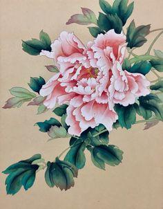 Asian Flowers, Chinese Flowers, Japanese Flowers, Japanese Art, Peony Painting, Watercolor Flowers, Watercolor Art, Folk Art Flowers, Flower Art