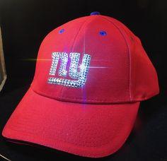 New York Giants Swarovski Rhinestone Bling Hat www.babywantsbling.com