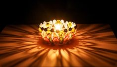 Quilling candle stand lamp