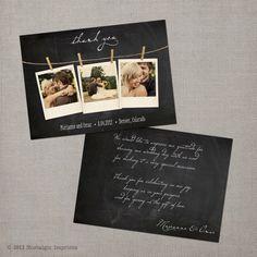 "Wedding Thank You Card - the ""Marianne"". $41.75, via Etsy."