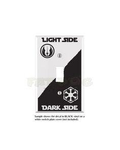 Star Wars Jedi Sith Light Side Dark Side by FatDogDesignsStore