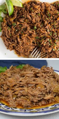 Slow Cooker Beef Tacos, Slow Cooker Shredded Beef, Shredded Beef Recipes, Mexican Shredded Beef, Machaca Recipe Slow Cooker, Shredded Beef Burritos, Tasty Videos, Food Videos, Easy Chicken Dinner Recipes