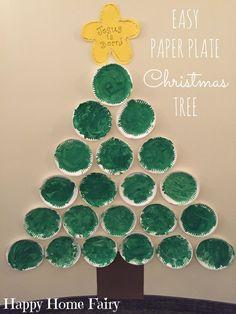 Paper Plate Christmas Tree - Happy Home Fairy Christmas Gift Exchange Games, Fun Christmas Games, Preschool Christmas, Toddler Christmas, Christmas Art, Preschool Crafts, Christmas Themes, Preschool Ideas, Preschool Decorations