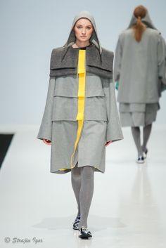 Пальто с кокеткой