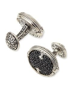 N2U98 Konstantino Pave Spinel Cuff Links