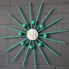 Items similar to Modern Steel Metal Wall Art Mirror Mod Star Starburst Sun Sunburst with Spheres Many Colors Available on Etsy & Starburst Sunburst Metal Wall Art Modern Mod Fab by inspiring4u2 ...