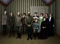 A digitalized picture of the Romanov family and their servants before their execution