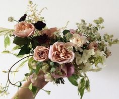 Juli's free-form Country Wedding Bouquet.....just enough!
