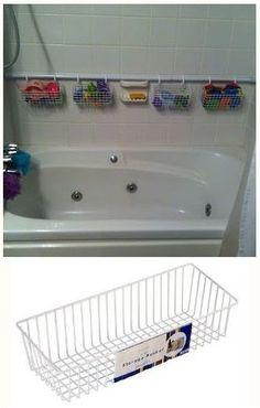 Bathroom shower storage ideas bath toys 20 Ideas for 2019 Bath Toy Storage, Wire Basket Storage, Shower Storage, Wire Storage, Wire Baskets, Toy Storage Solutions, Bathroom Storage Solutions, Bathroom Organization, Storage Ideas