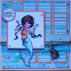 handmade card using Aqua Marina  from Sugar Nellie @ www.funkykits.co.uk  http:fiscardsandcrafts.blogspot.co.uk