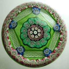 Patterned Millefiori Paperweight   , 1971   glass