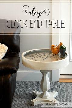 Diy pedestal clock end table tutorial