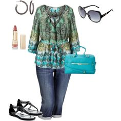 plus size summer, created by penny-martin on Polyvore