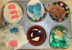 Dr. Seuss breakfast: Cat in the Hat, One Fish Two Fish Red Fish Blue Fish, and Horton Hears a Who pancakes, Green Eggs and Ham toast. Muffin tin meal