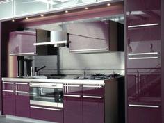 Purple modern kitchen