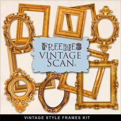 Far Far Hill: Freebies Kit of Gold Frames