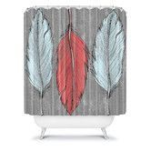 found it at wayfair deny designs wesley bird polyester feathered shower curtain