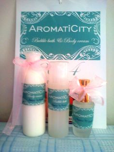 SET > Aromatic Body Cream with the same Aromatic Bubble Bath and Perfume