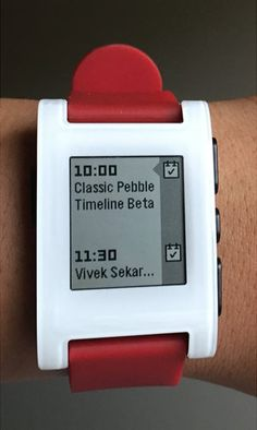 Timeline on Classic Pebble
