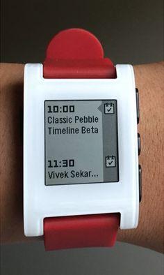 Timeline on Classic Pebble