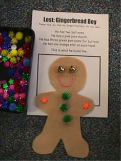Descriptions of Gingerbread men, kids have to create the picture that matches the description. Cute!!