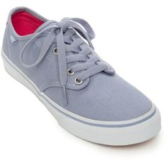 a0bdbd91b8 Vans Light Blue Camden Stripe Eventide Sneaker - Women s ( 50) ❤ liked on  Polyvore featuring shoes