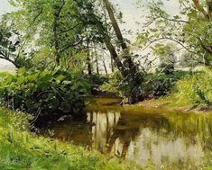 Peder Mønsted: View of Sæby stream. - by Bruun Rasmussen