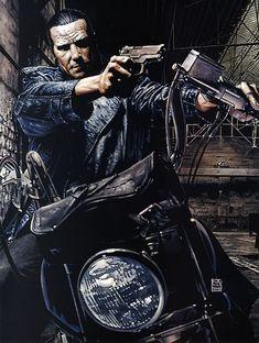 Punisher by Tim Bradstreet The Punisher Movie, Punisher Comics, Daredevil Punisher, Marvel Comics Art, Marvel Vs, Punisher Logo, Comic Book Artists, Comic Book Characters, Comic Book Heroes