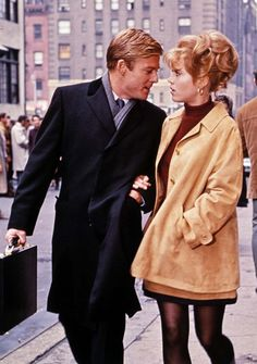 A look back at Robert Redford's most stylish turns. Robert Redford and Jane Fonda, Barefoot in the Park, 1967.