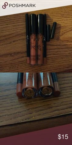 Dirty peach & brown sugar New with box Ships next day:) Kylie Cosmetics Makeup Lipstick