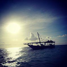 the old dhow and the sea, Zanzibar