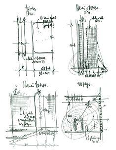 Una selección casi azarosa de los croquis que acompañan las  publicaciones del Renzo Piano Building Workshop, dibujos...